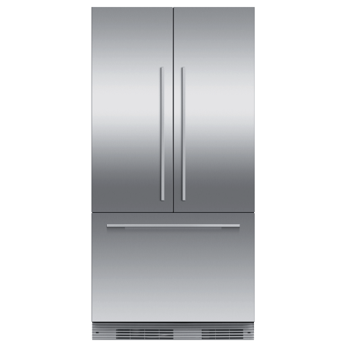 "Integrated French Door Refrigerator Freezer, 36"", Ice"