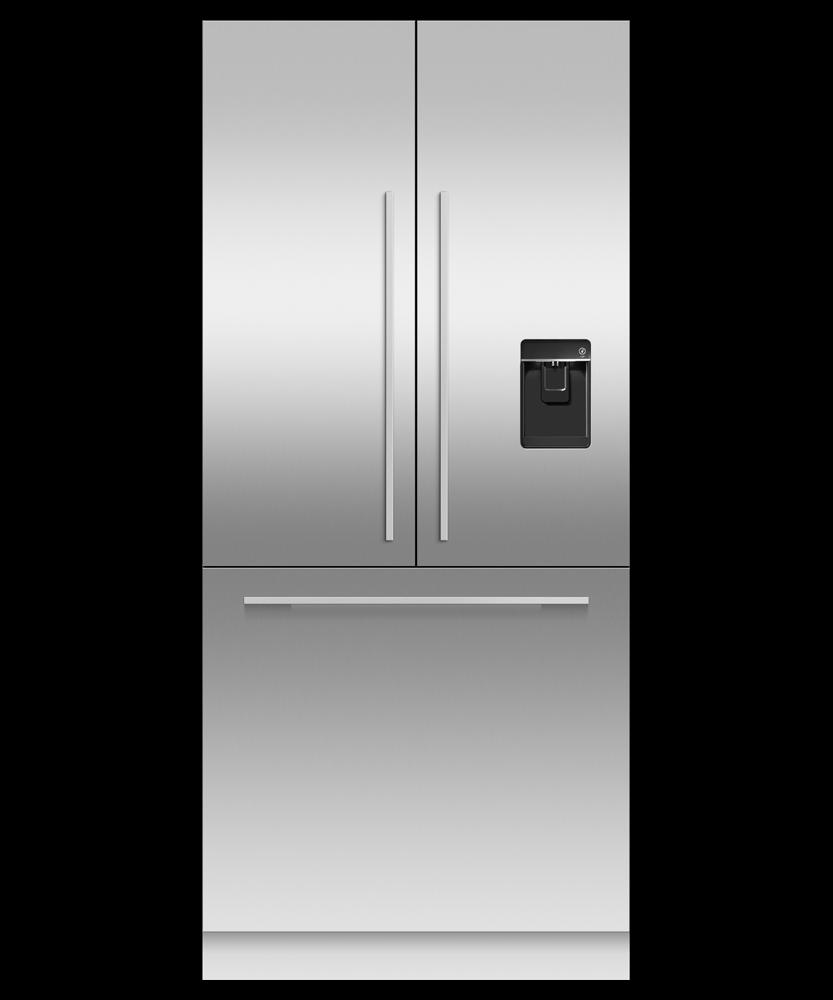 "Fisher & PaykelIntegrated French Door Refrigerator Freezer, 36"", Ice & Water"