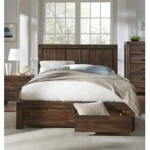 Meadow King Storage Bed with Graphite Finish