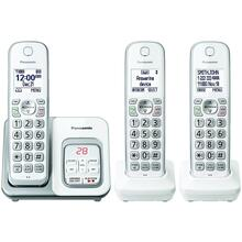 Expandable Cordless Phone with Call Block & Answering Machine (3 Handsets)