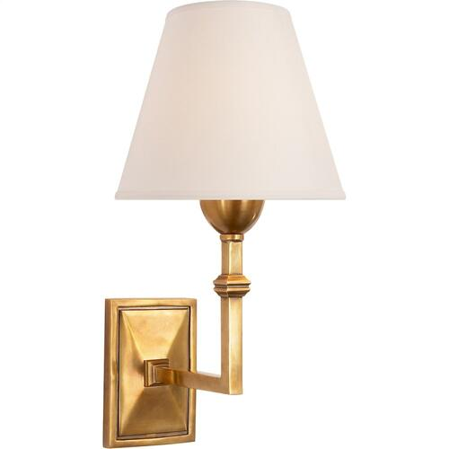 Visual Comfort AH2305HAB-NP Alexa Hampton Jane 1 Light 7 inch Hand-Rubbed Antique Brass Decorative Wall Light