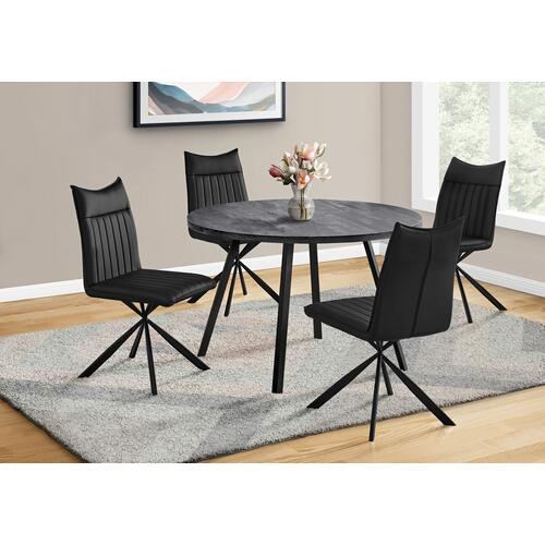 """Gallery - DINING TABLE - 48""""DIA/ BLACK RECLAIMED WOOD / BLACK METAL"""
