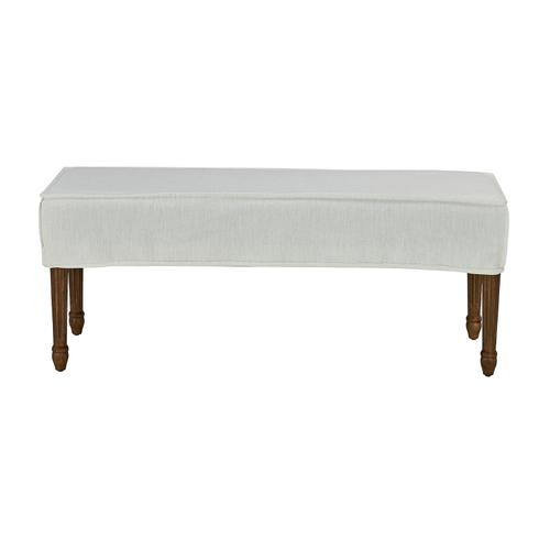 Forty West Designs - Bench Slip Cover-washable + Reversible White