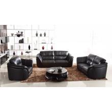 Divani Casa 262 Black Leather Sofa Set