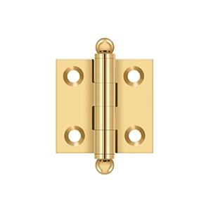 """1-1/2""""x 1-1/2"""" Hinge, w/ Ball Tips - PVD Polished Brass Product Image"""