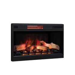 "32"" 3D Infrared Quartz Electric Fireplace Insert with Safer Plug® and Safer Sensor"