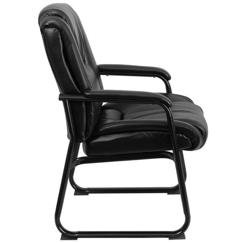 Gallery - Reception Chairs  Black LeatherSoft Side Chairs for Reception and Office