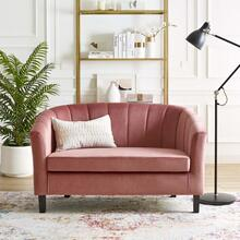 Prospect Channel Tufted Performance Velvet Loveseat in Dusty Rose