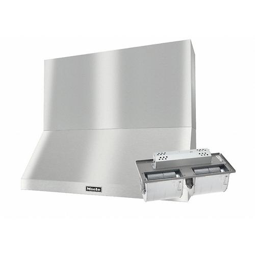"""DAR 1250 Set 4 Wall-Mounted Range Hood with Extraction Mode with integrated XXL motor including 24"""" chimney cover."""