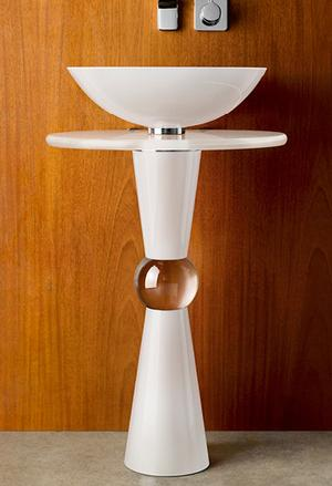 Cono Pedestal - Shown with 210 Basin and White Countertop Product Image