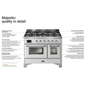 48 Inch Blue Dual Fuel Natural Gas Freestanding Range