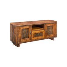 Mossy Oak Carver Point TV Stand Natural Bark Walnut Top
