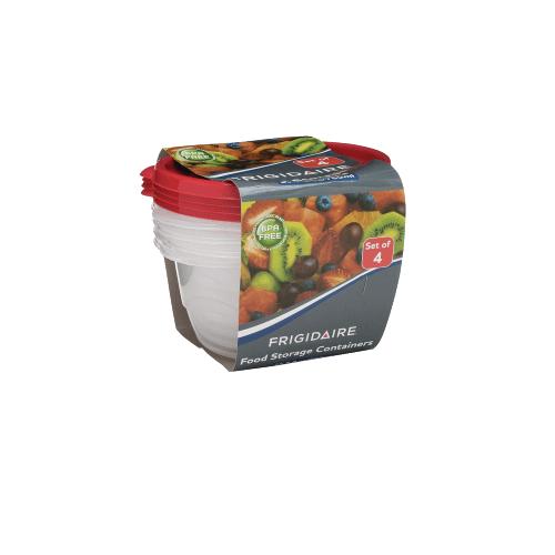 Frigidaire 4-Pack 25.7oz Plastic Round Storage Container