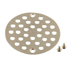 "Moen Brushed Nickel 4"" Shower Drain Cover (8.7""L x 5.2""W x .4""H)"