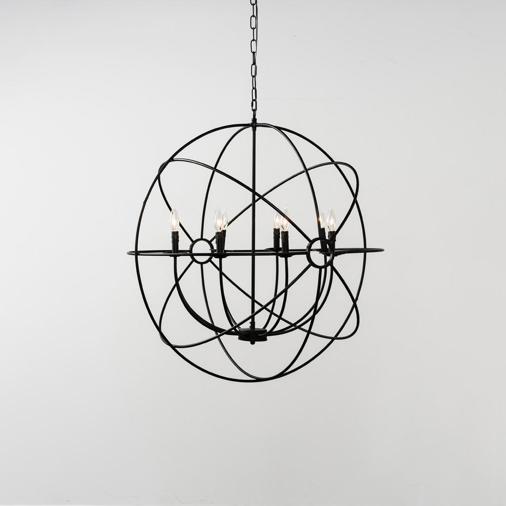 See Details - Derince Iron Chandelier Large wBulb