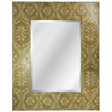 Hand Painted Champagne Damask Mirror