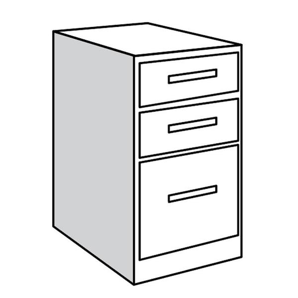 """See Details - Base Unit, 21""""w with 1 File Drawer and Pullout Surface"""