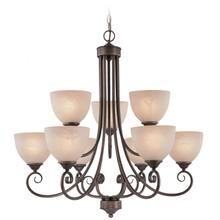 25329-OLB - 9 Light Chandelier
