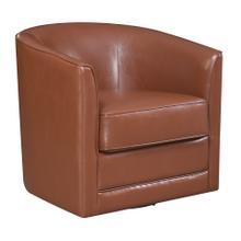 Milo Swivel Accent Chair, Chestnut Brown U5029c-04-75a