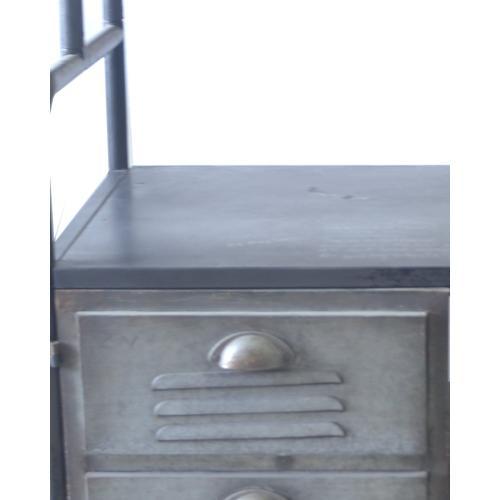 Emerald Home Ac102-06 Winston Foyer Cabinet, Patina Gray