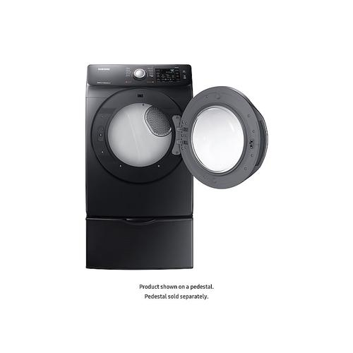 Gallery - 7.5 cu. ft. Electric Dryer with Steam in Black Stainless Steel