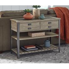 Sofa/Media Console in a distressed Acorn finish      (9918-09,52987)