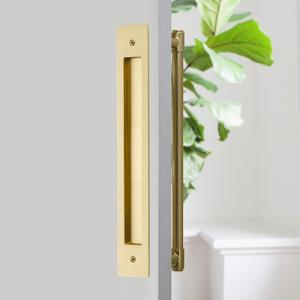 "Modern Rectangular Flush Pull for 12"" C-to-C Appliance Pull Product Image"