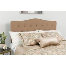 Cambridge Tufted Upholstered Queen Size Headboard in Camel Fabric
