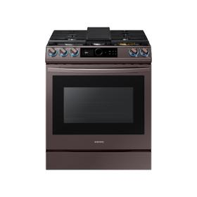 6.0 cu. ft. Smart BESPOKE Slide-in Gas Range with Smart Dial & Air Fry in Tuscan Stainless Steel