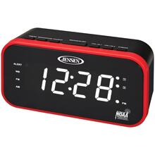 AM/FM/NOAA® Weather Band Clock Radio with Weather Alert