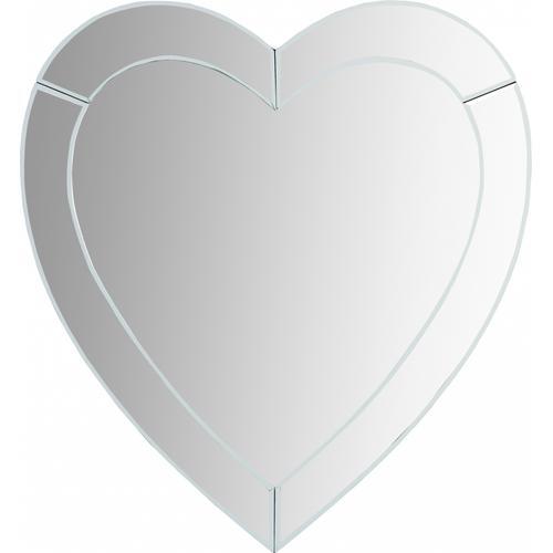 """Heart Mirror - 35.5"""" W x 1"""" D x 33.5"""" H"""