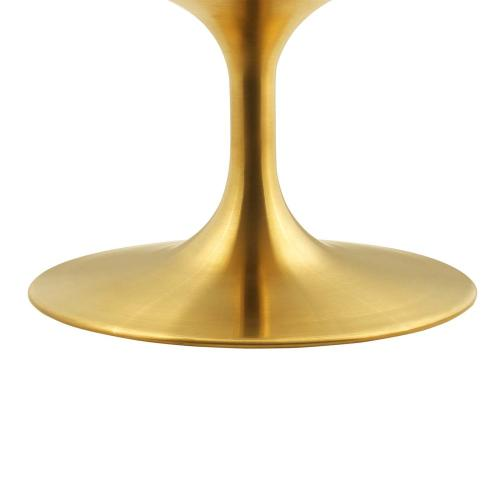 """Lippa 36"""" Wood Coffee Table in Gold White"""