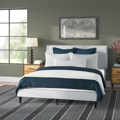 Accentrics Home - Mid-Century Modern Queen Platform Bed in Gray
