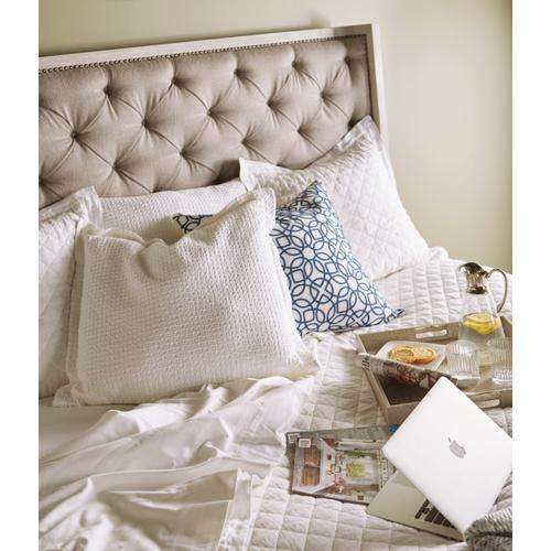 A.R.T. Furniture - Anna Upholstered California King Bed Flint Chippy Gray Antique Pewter