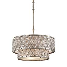 Lucia Large Hanging Shade Burnished Silver