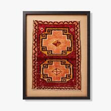 0321330074 Vintage Rug Fragment Wall Art