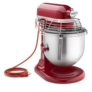 KitchenAidNSF Certified® Commercial Series 8 Quart Bowl-Lift Stand Mixer with Stainless Steel Bowl Guard - Empire Red