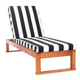 Solano Sunlounger - Natural / Black