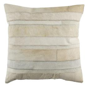 Perry Cowhide Pillow - Beige