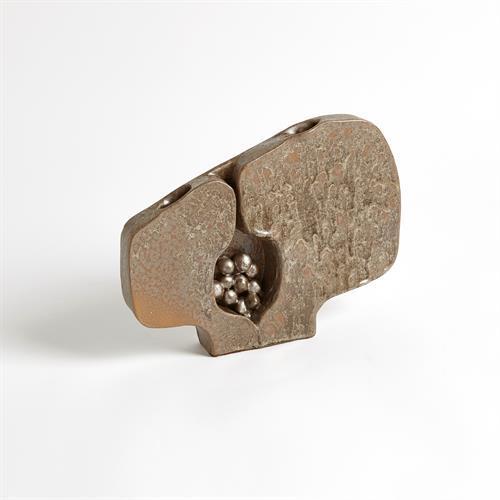 Seed Pod Vase-Metallic-Sm