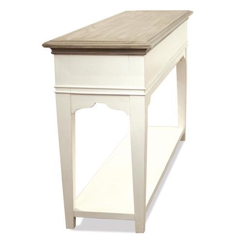 Myra - Sofa Table - Natural/paperwhite Finish