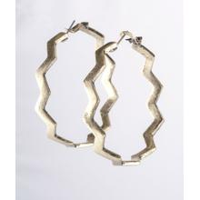 BTQ Gold Zigzag Earrings