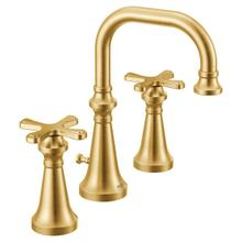 Colinet brushed gold two-handle bathroom faucet