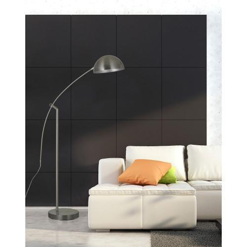 Cal Lighting & Accessories - 60W Pinehurst Metal Arc Floor Lamp With Metal Shade