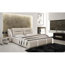 Modrest B1303 Modern Grey & White Bonded Leather Bed