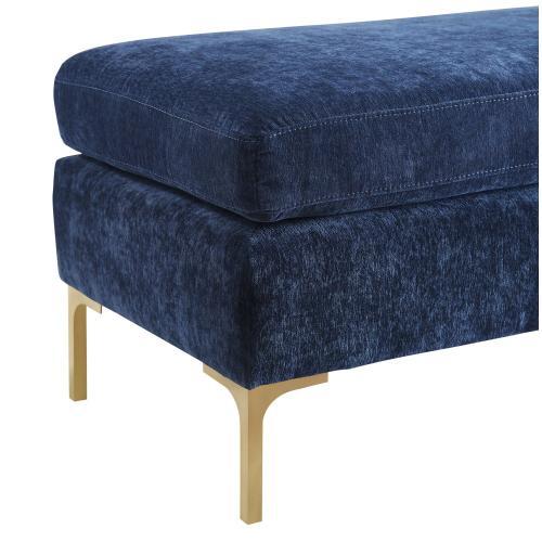 Tov Furniture - Delilah Navy Textured Velvet Bench