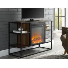 Jersey 40 inch Fireplace Console - Rustic Oak