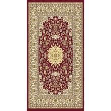 "Persian Design 1 Million Point Heatset Monalisa 5016 Area Rugs by Rug Factory Plus - 5'4"" x 7'5"" / Burgundy"