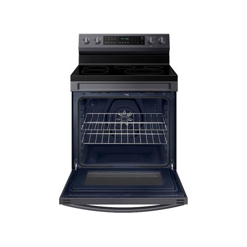 6.3 cu. ft. Smart Freestanding Electric Range with No-Preheat Air Fry, Convection+ & Griddle in Black Stainless Steel
