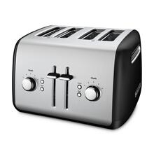 4-Slice Toaster with Manual High-Lift Lever - Onyx Black